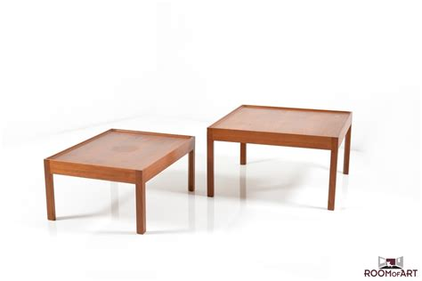 nesting sofa tables in teak room of