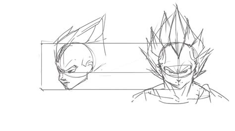 Z Sketches by How To Draw Z Characters Vegeta