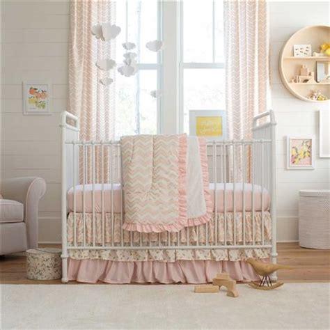 Pale Pink Bedding Sets Pale Pink And Gold Chevron 3 Crib Bedding Set