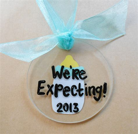we re expecting baby christmas ornament by
