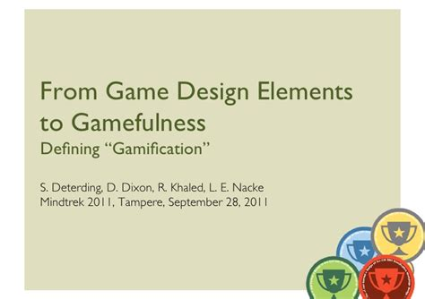 Game Design Terms | from game design elements to gamefulness defining