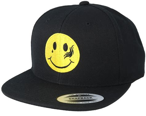 collective tattoo smiley black snapback collective caps