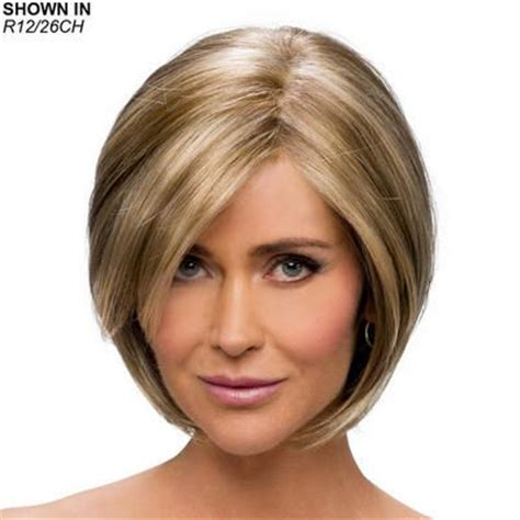 add side swept bangs to bob keira wig by estetica designs is a medium length layered