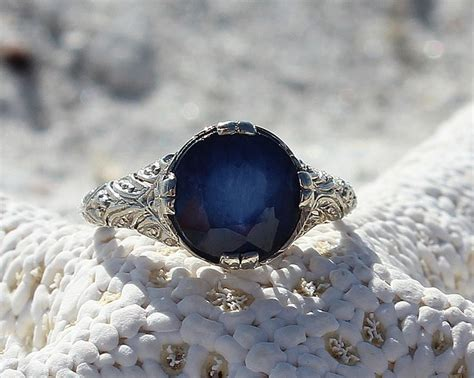 6 3ct Blue Sapphire 171 best antique engagement rings images on
