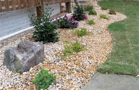 backyard pebbles landscaping with big rocks home decorating ideas and tips