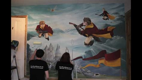 Feature Wall Bedroom by Harry Potter Mural Youtube