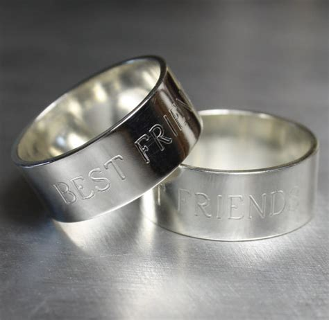 best friend rings best friend jewelry bff silver by