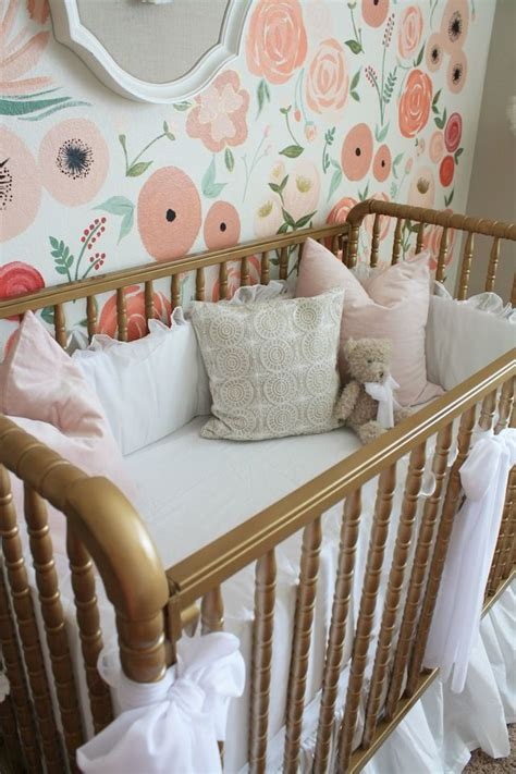 fanciful floral oasis  baby girl  decorating ideas