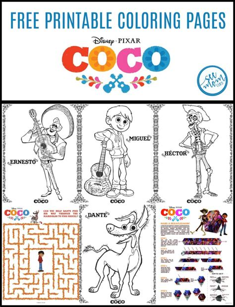 coco coloring book disney pixar coco coloring pages for boys and books disney pixar coco coloring pages new trailer see click