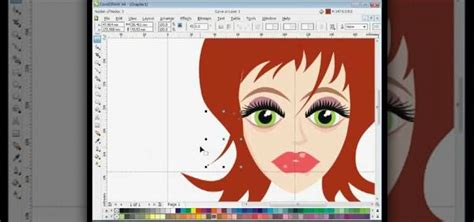 corel draw x4 year how to draw a female vector cartoon character in coreldraw
