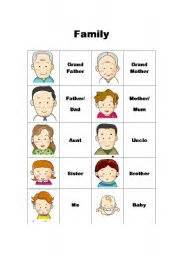 8 best images of printable pictures of family members family members flash cards printable