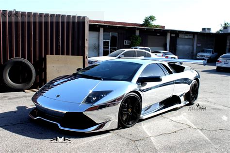 chrome lamborghini no mercy for chrome wrapped lambo murcielago autoevolution
