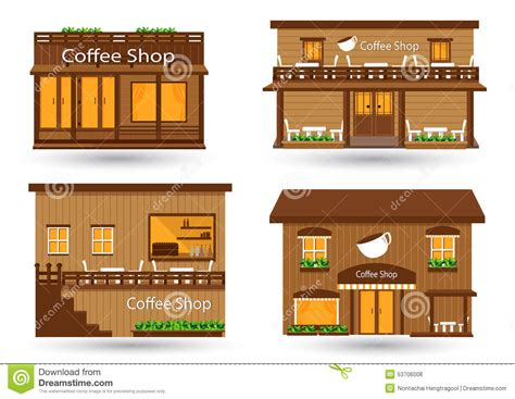 coffee shop design and build coffee shop stock vector image 53706008