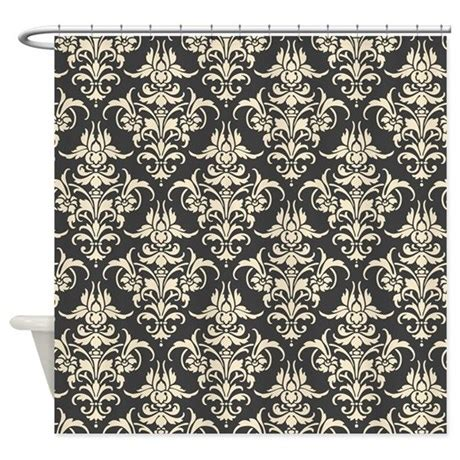 damask shower curtains beautiful dark gray cream damask shower curtain by nicholsco