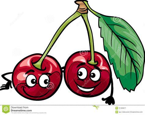 clipart divertenti la ciliegia divertente fruttifica illustrazione
