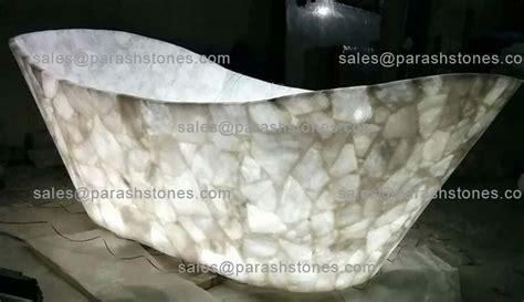 quartz bathtub semi precious gemstone bath tub luxury bath tub in