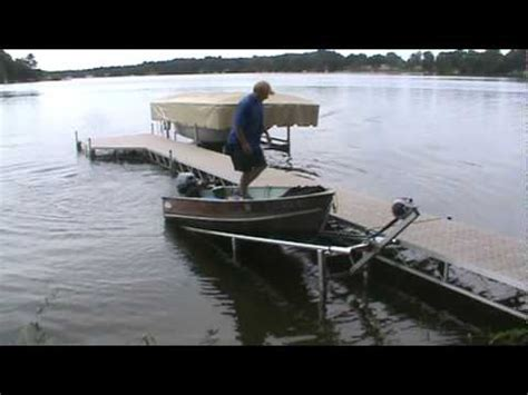 jon boat lift the swift lift loading 12ft fishing boat 2 youtube