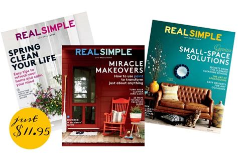 real simple magazine rare deal real simple magazine for just 11 95 shesaved 174
