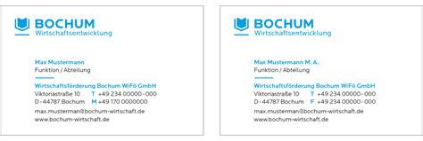 Visitenkarten Titel Bezeichnung by Bochum Wirtschaftsentwicklung Cd Marke Bochum