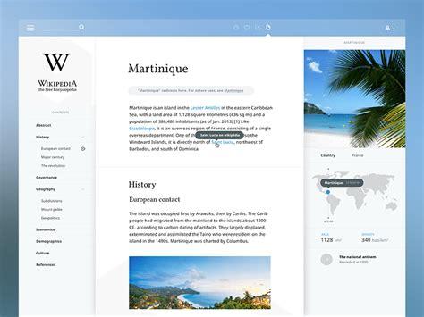 design concept wikipedia best of dribbble week 1 designrope