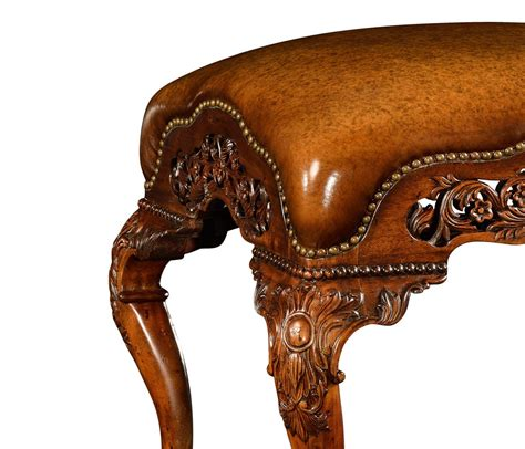Furniture Upholstery Leather by Leather Upholstered Furniture Carved Footstool