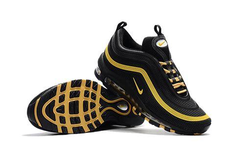 black and gold running shoes nike air max 97 plastic drop black and gold kpu tpu