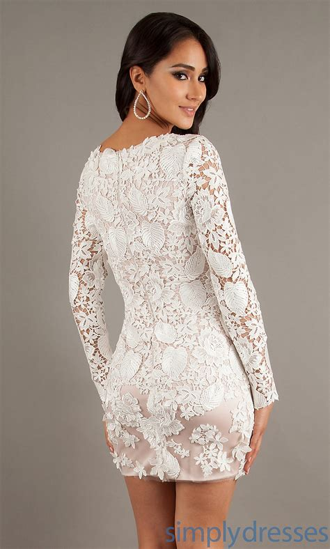 White Lace Sleeved Dress white dress with lace sleeves all dresses