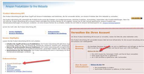amazon api die amazon api einrichten affiliate toolkit dokumentation