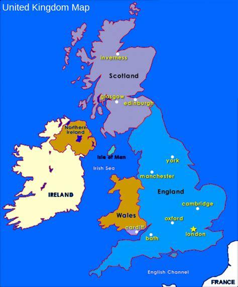 map of the united kingdom european info united kingdom