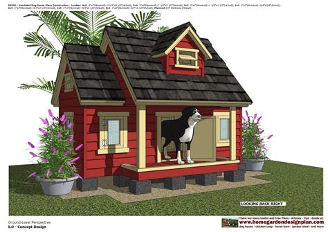 dog house with windows home garden plans dh301 insulated dog house plans dog house design how to build
