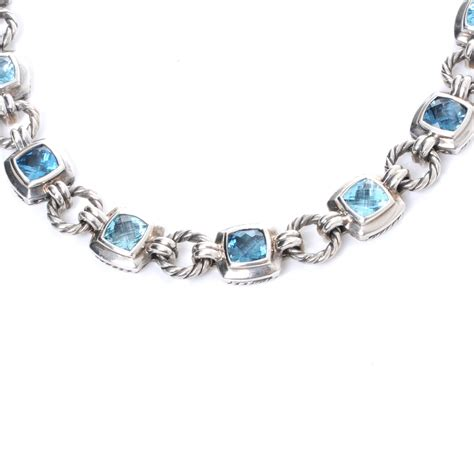 david yurman sterling silver blue topaz renaissance