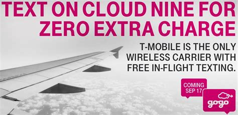 tmobile gogo t mobile to offer customers free in flight texting via gogo