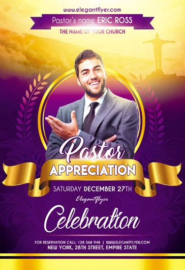 Free Psd Flyer Templates For Party Event Business By Elegantflyer Pastor Anniversary Flyer Free Template