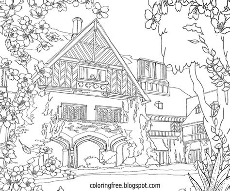 advanced landscape coloring pages 80 complicated coloring pages for adults print