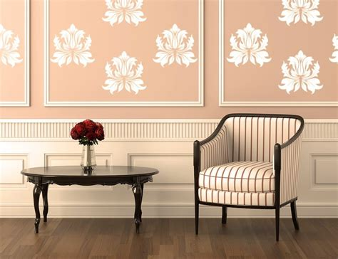 luxury wall design with artistic decor furniture