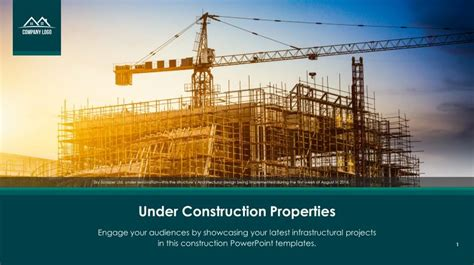 Free Under Construction Properties Ppt Slide Templates Slidestore Construction Powerpoint Presentation Templates