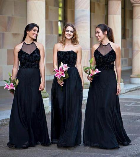 Black Bridesmaid Dress by Black Bridesmaid Dresses Elizabeths Bridal