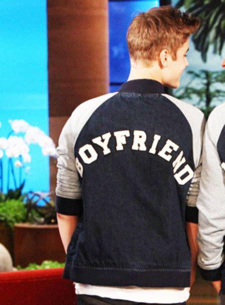 justin bieber jacket in boyfriend jacket ellen boyfriend belieber bieber blue grey