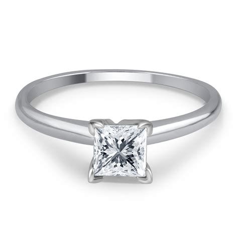 7 Engagement Rings From Since1910 by Tradition 1 Cttw Certified Princess Cut 14k White