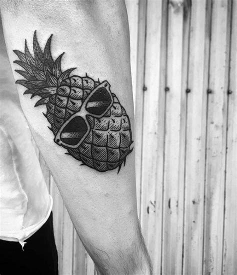 sunglasses tattoo designs 60 pineapple designs for tropical fruit ideas