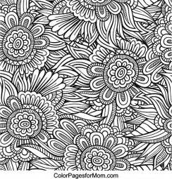 Galerry advanced flower coloring pages to print