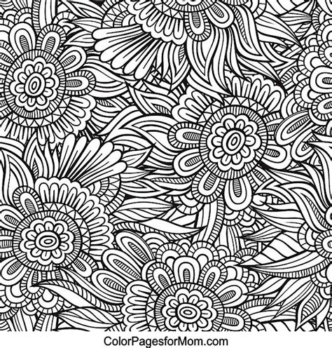 flower doodle coloring pages doodles 64 advanced coloring pages