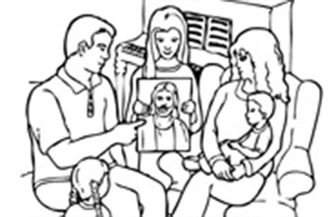 coloring pages for family home evening coloring pages