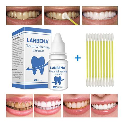 lanbena teeth whitening essence powder oral hygiene