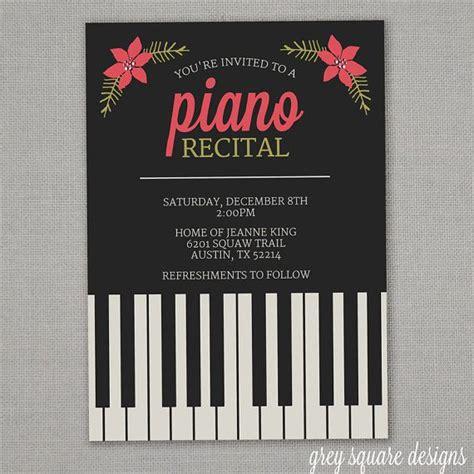 printable recital invitations 26 best piano recital invitations images on pinterest