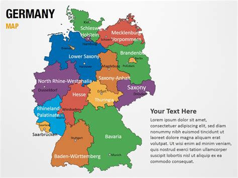 powerpoint layout germany germany map powerpoint map slides germany map map ppt