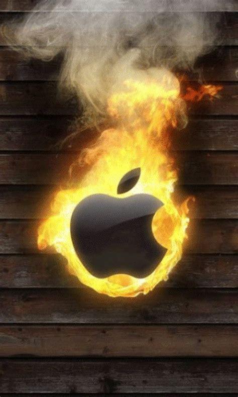 burning apple  wallpaper apk   android