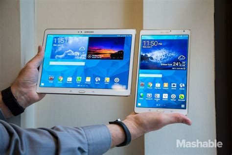 Samsung Galaxy Tab S 10 Inch on with the samsung galaxy tab s