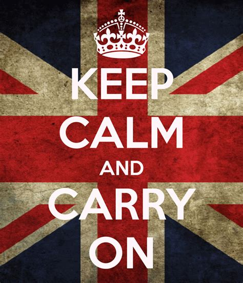 Keep Calm On keep calm and carry on uk flag scn015 don poster