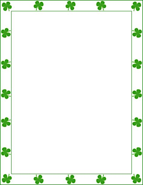 st s day borders clipart